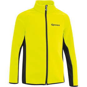 Gonso Moritz Softshell Veste Enfant, safety yellow/black